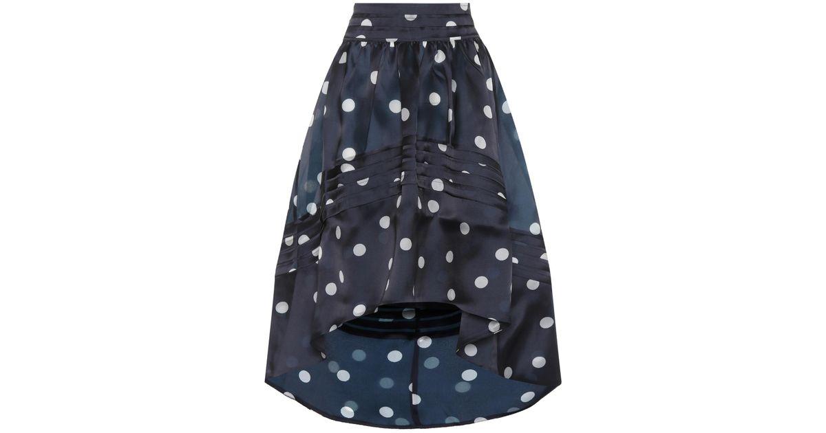 f9f5e370 Ganni Seneca Silk Skirt in Blue - Lyst