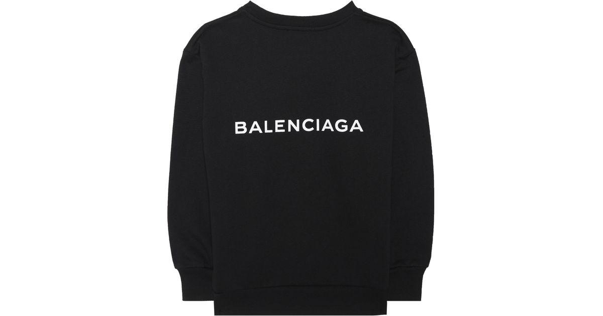 d486a2841 Balenciaga Kids' Printed Sweatshirt in Black - Lyst