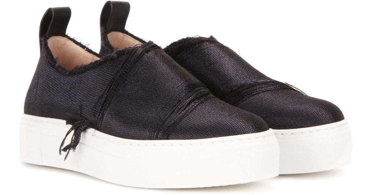 2c9dce6e636a3 Lyst - Calvin Klein Ariel Slip-on Sneakers in Black