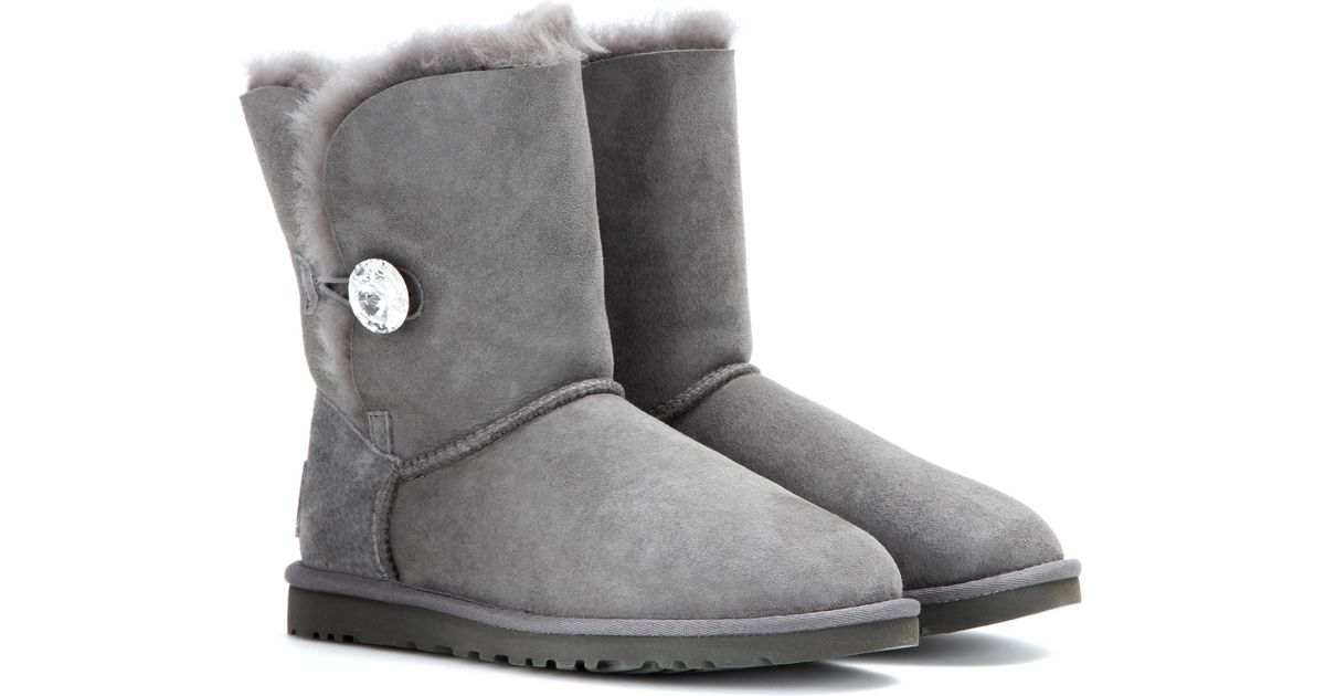 a99dfdf8f37 UGG - Gray Bailey Button Bling Boots - Lyst