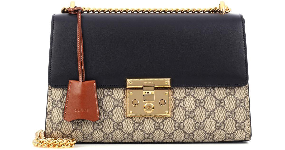 e168011d0a184 Lyst - Gucci Padlock GG Supreme Medium Shoulder Bag