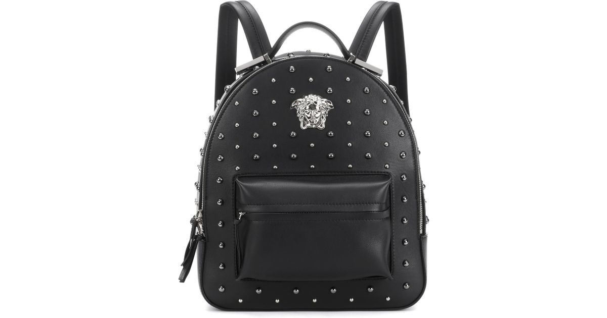 71b248542e Versace City Stud Palazzo Empire Backpack in Black - Lyst