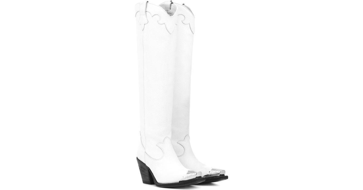 ad1cb9917013 Lyst - Bottes en cuir Tammy McQ en coloris Blanc
