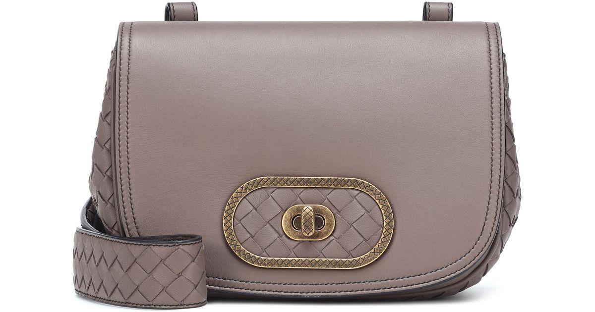49cccaf8cd7 Lyst - Bottega Veneta Bv Luna Leather Crossbody Bag