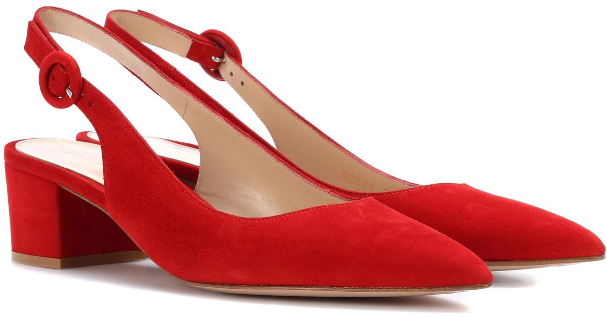 Gianvito Rossi Amee suede slingback pumps 1Dv6nb