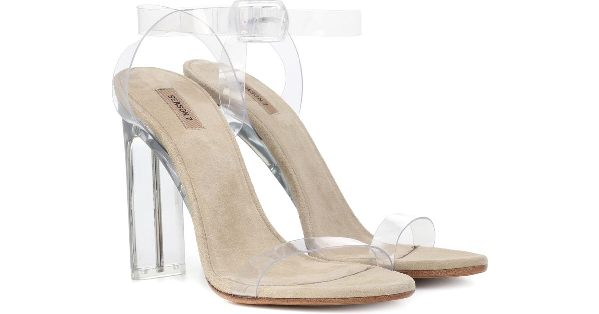 ad2185ee2e6fd Lyst - Yeezy Transparent Sandals (season 7) in White