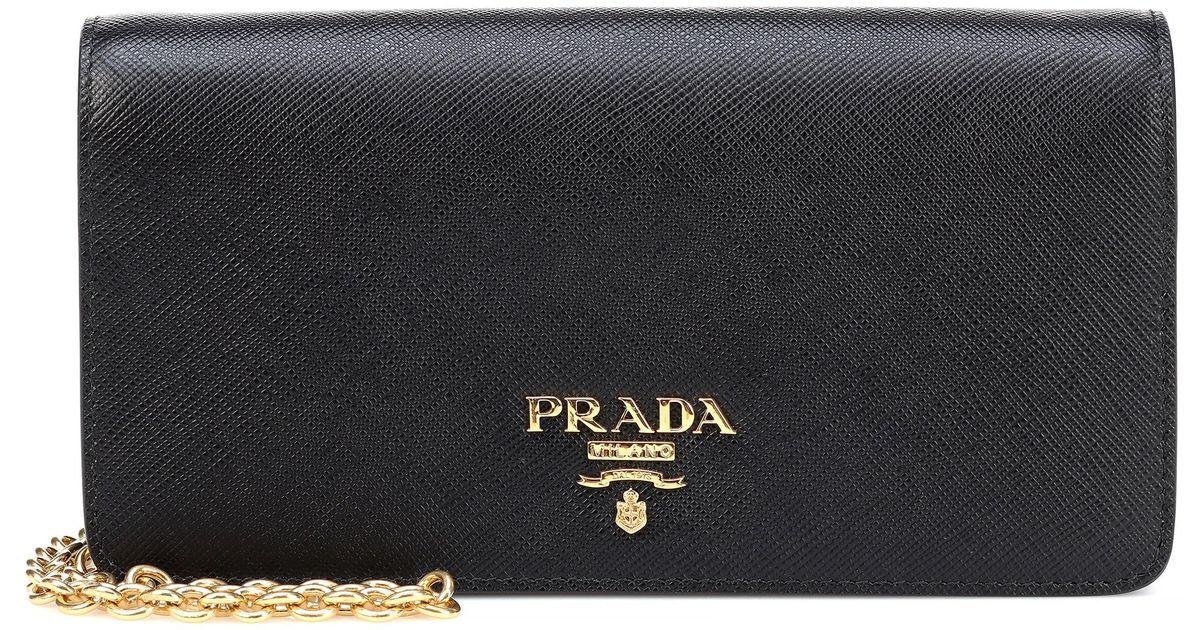 0e5c1a2e2972 Lyst - Prada Saffiano Leather Crossbody Bag in Black