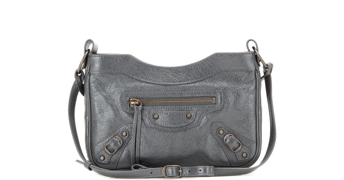 6d72a817a1 Lyst - Balenciaga Classic Hip Leather Shoulder Bag in Gray