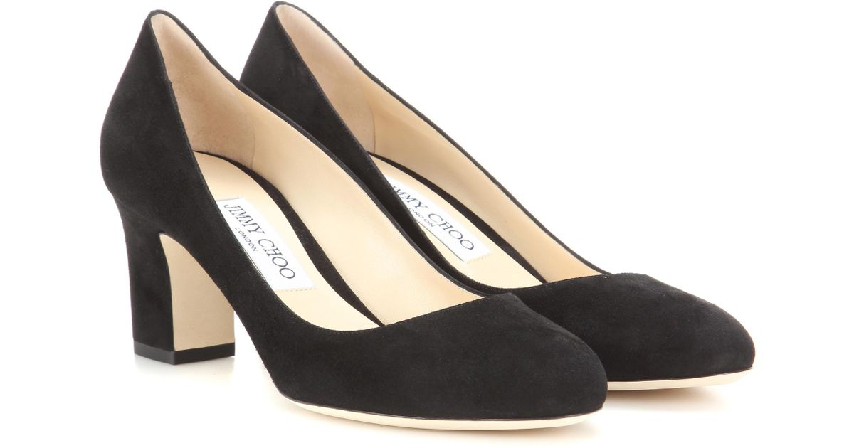 91ccb1dbe73 Lyst - Jimmy Choo Billie 65 Suede Pumps in Black