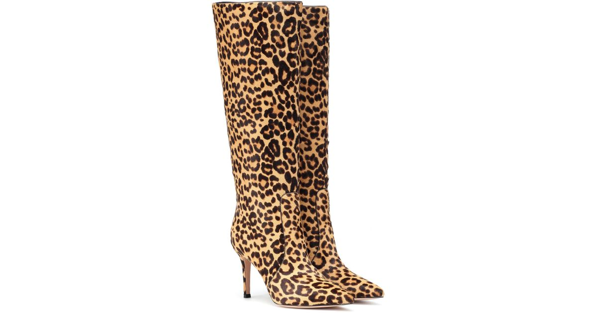 aa40ccf232b4c Gianvito Rossi Hunter Calf Hair Boots in Brown - Save 60% - Lyst