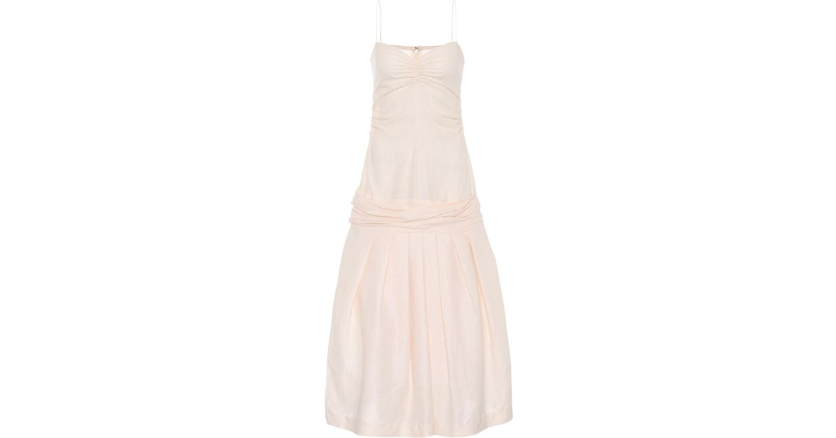 ac1d1759bc Lyst - Jacquemus La Robe Limao Linen And Cotton Dress in Natural