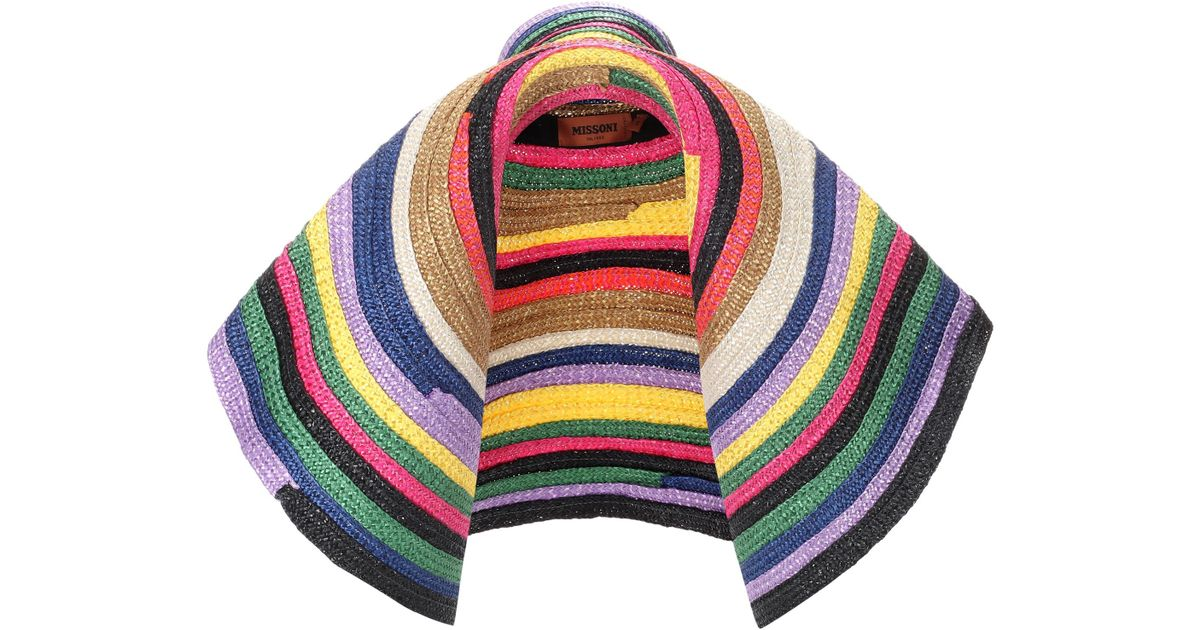 Lyst - Missoni Striped Oversized Hat 49a103964240