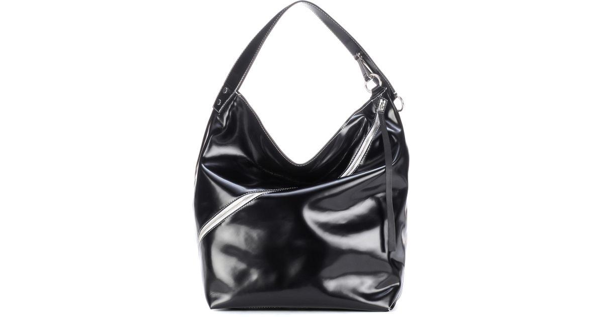 Lyst - Proenza Schouler Hobo Large Leather Shoulder Bag in Black 8b6dff4ed3df6