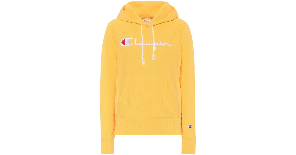 b9b2c7d4c7a2 Lyst - Champion Cotton Hoodie in Yellow