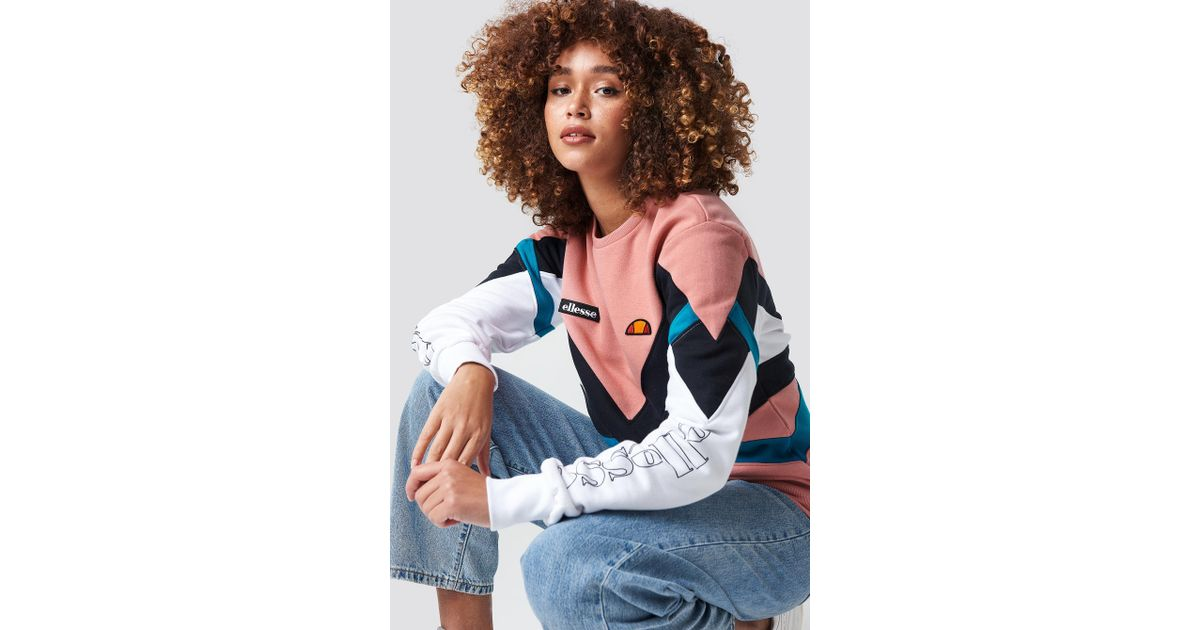 Robiola Ellesse In Lyst Pink Sweatshirt El T6Cqnwzf