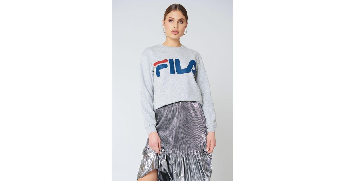 b80c80953760 Lyst - Fila Classic Logo Sweat Light Grey Melange Bros in Gray - Save 17%
