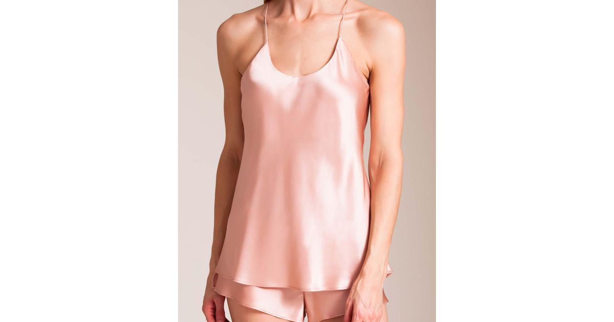 09e00ff45c Lyst - Olivia Von Halle Bella Camisole And Tap Pant Set in Pink