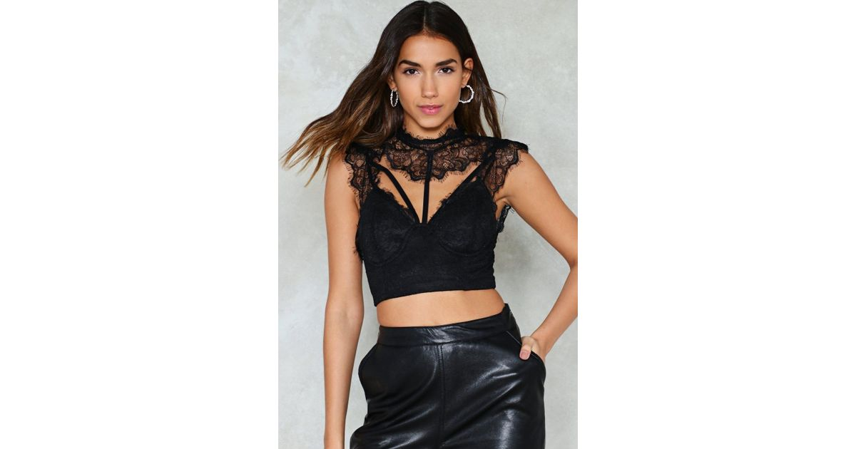 181b1e924c3 Lyst - Nasty Gal More Or Lace Bralette More Or Lace Bralette in Black