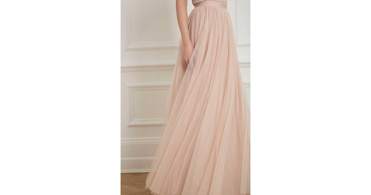 how to serch authentic quality quality and quantity assured Needle & Thread Multicolor Dotted Tulle Maxi Skirt