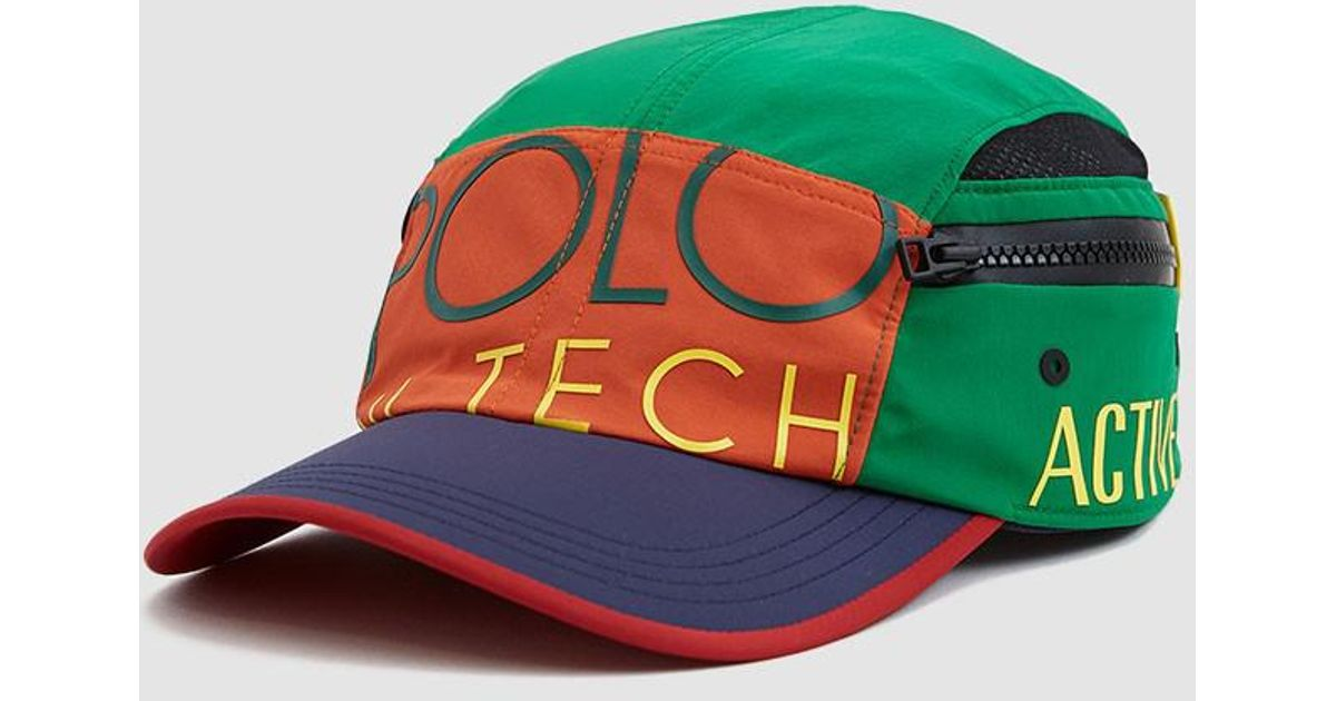 5ece908a Polo Ralph Lauren Hi-tech 5 Panel Cap in Green for Men - Lyst