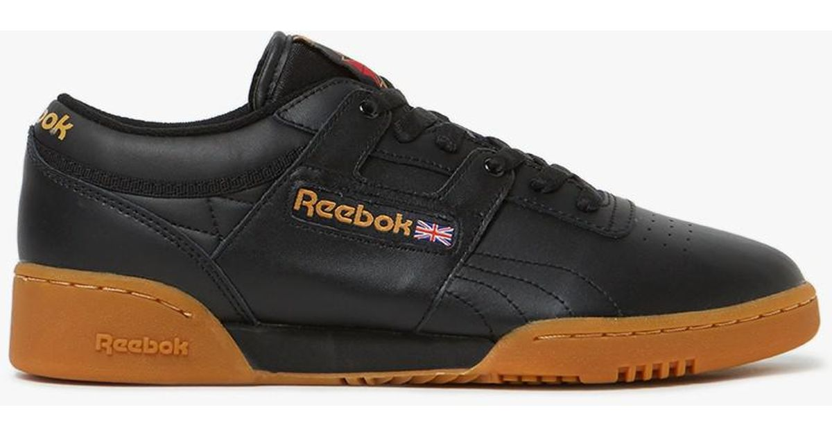 a69d5639813 Lyst - Reebok Workout Low Gum Sole in Black for Men