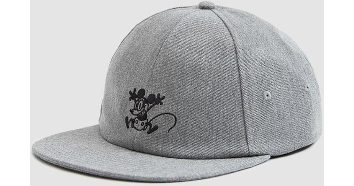 ab5bfa442b179 Vans Mickey s 90th Jockey Hat (mickey Through The Ages) Caps in Gray for  Men - Lyst