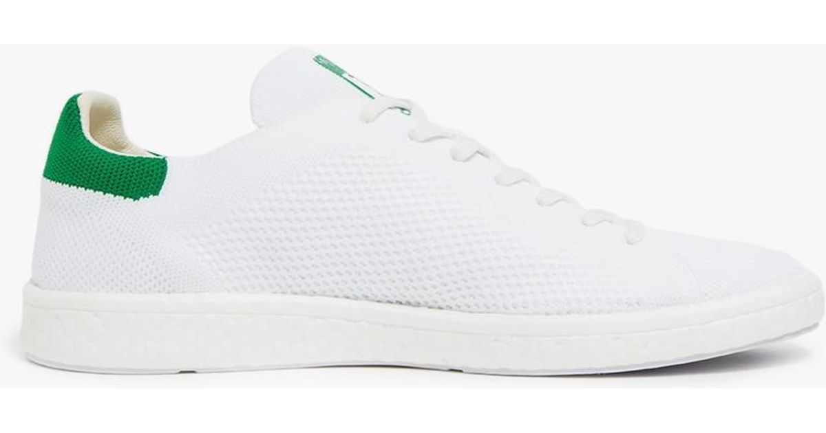 Lyst - adidas Stan Smith Boost Primeknit In White green in White a5665de09