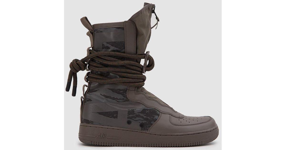 outlet store 69225 f3743 Nike Sf Air Force 1 Hi Boot In Ridgerock/black Sequoia in Black for Men -  Lyst