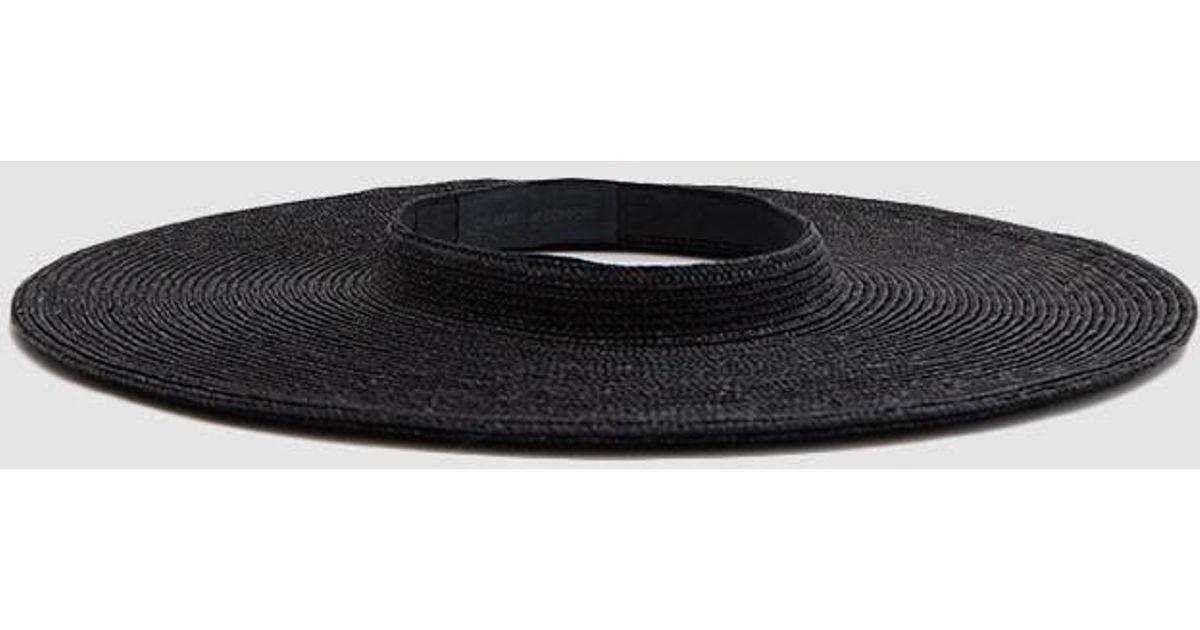 a8fba67e097 Lyst - Creatures of Comfort Cartwheel Hat in Black