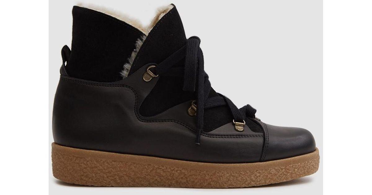 ca3602ef59b1 Ganni Masha Texas Boots in Black - Lyst
