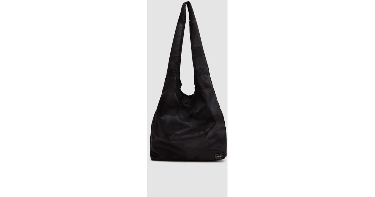Porter Camouflage Packable Shopping Bag in Black for Men - Lyst c0d71b600a50a