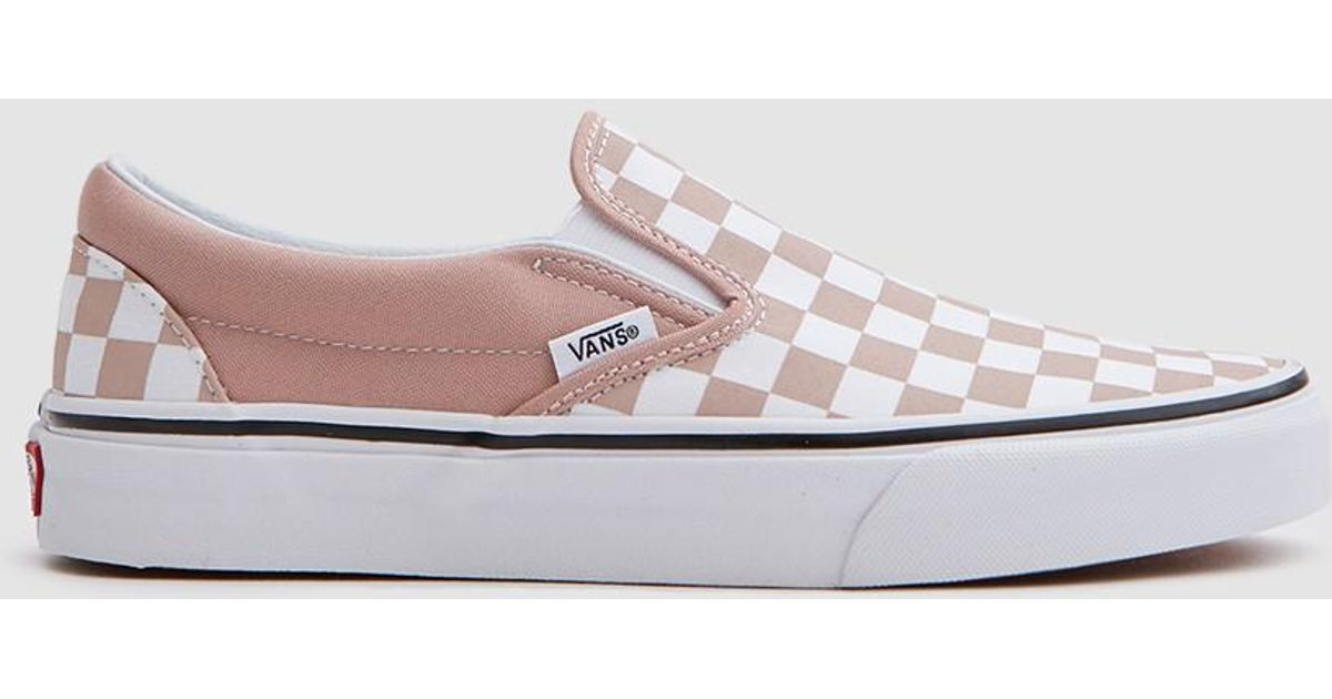 Lyst - Vans Classic Slip On In Mahogany Rose/white Checker In White