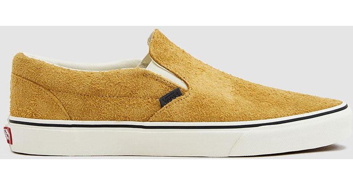 9ed2155678 Lyst - Vans Classic Slip-on Hairy Suede Sneaker for Men