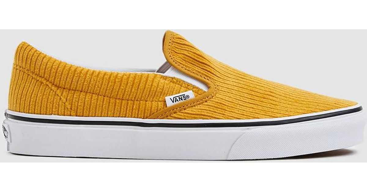 4be6d324ae1577 Vans Corduroy Slip-on Design Assembly Sneaker in Yellow - Lyst