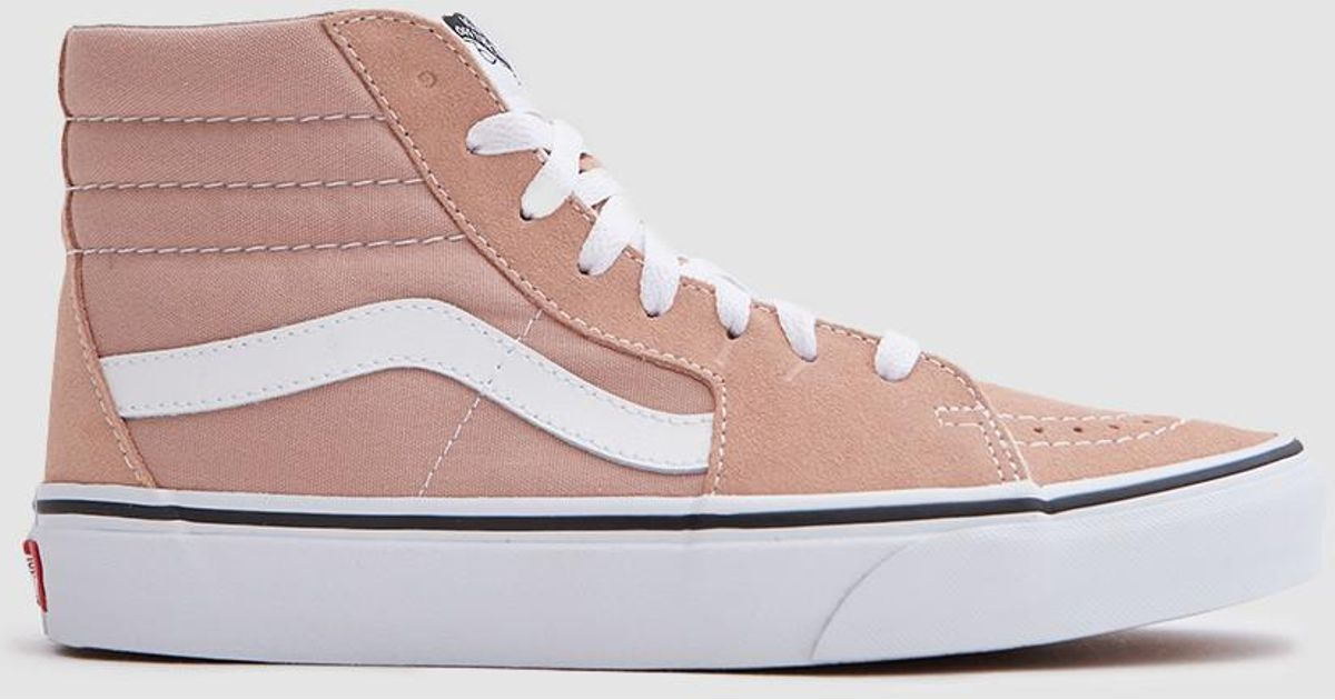Lyst - Vans Sk8 Hi In Mahogany Rose true White in Pink 0db7ccfc2