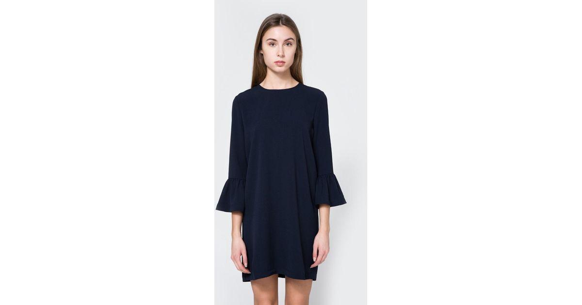 6f8c182a Ganni Clark Dress In Total Eclipse in Blue - Lyst