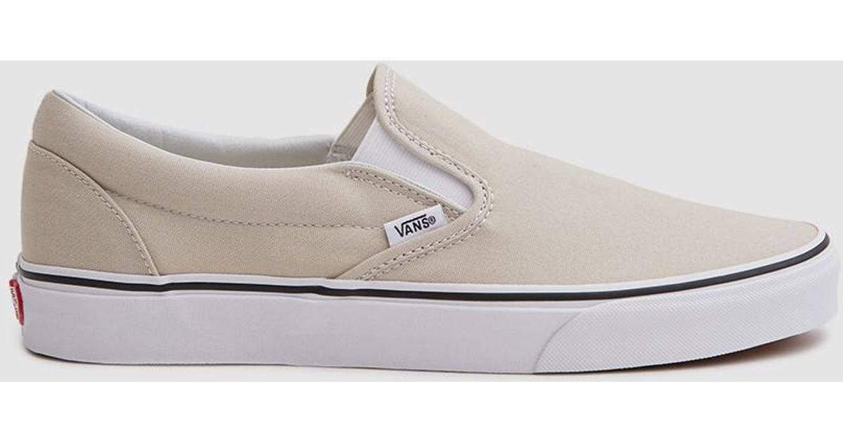 d78093f433 Lyst - Vans Classic Slip On Sneaker In Silver Lining in Metallic for Men