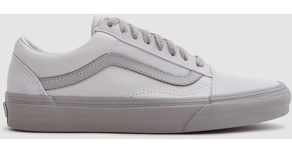 6e73ce09a5 Lyst - Vans Old Skool In Glacier Gray drizzle Leather in Gray for Men