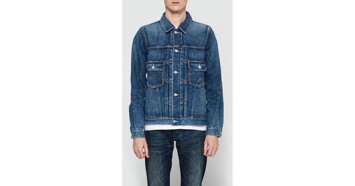 moderate price aesthetic appearance purchase original Visvim Blue 101 Selvedge Denim Jacket for men