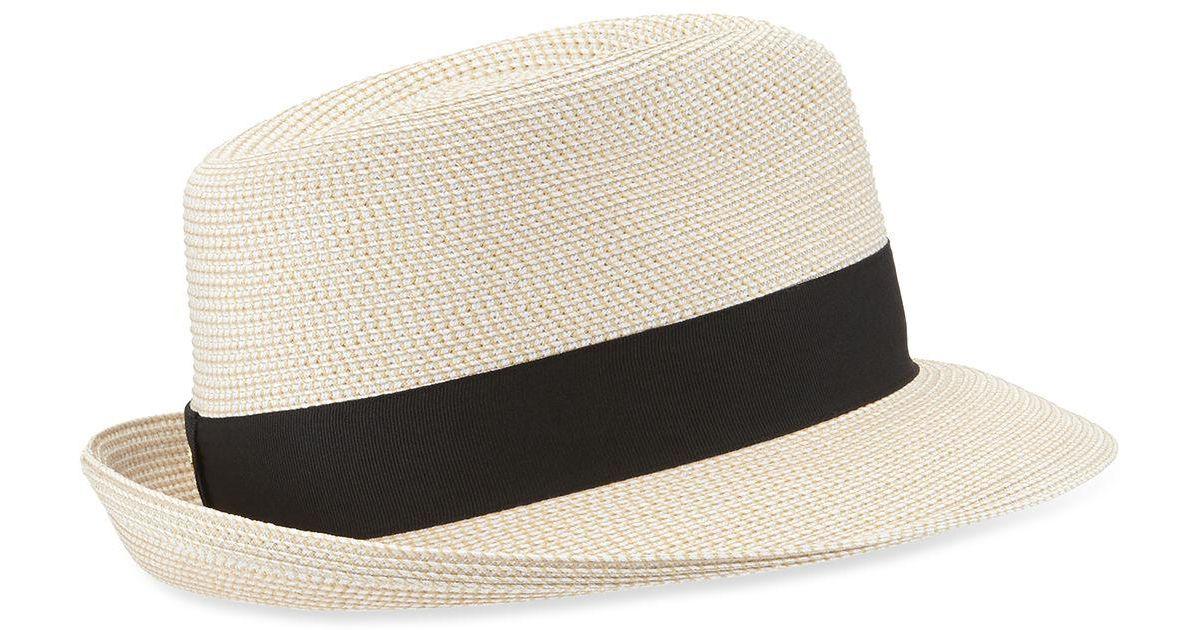 a1442951e38 Lyst - Eric Javits Squishee Classic Woven Fedora Hat
