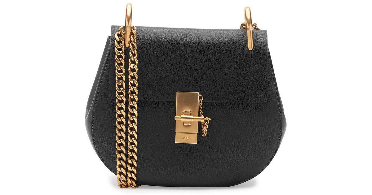 27a7a2ea54 Chloé - Black Drew Small Chain Shoulder Bag - Lyst