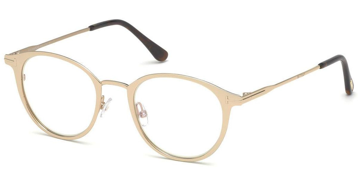 Lyst - Tom Ford Blue Light-blocking Oval Acetate/metal Optical ...