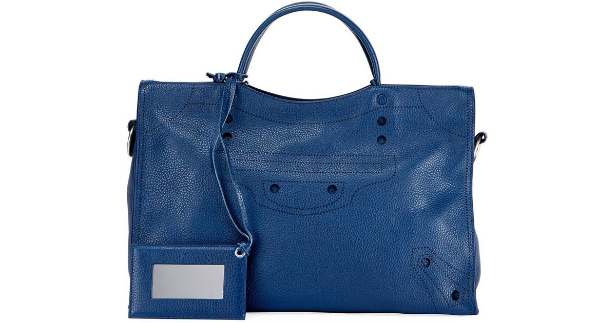 ad5d2519c74 Lyst - Balenciaga Blackout City Aj Shoulder Bag in Blue