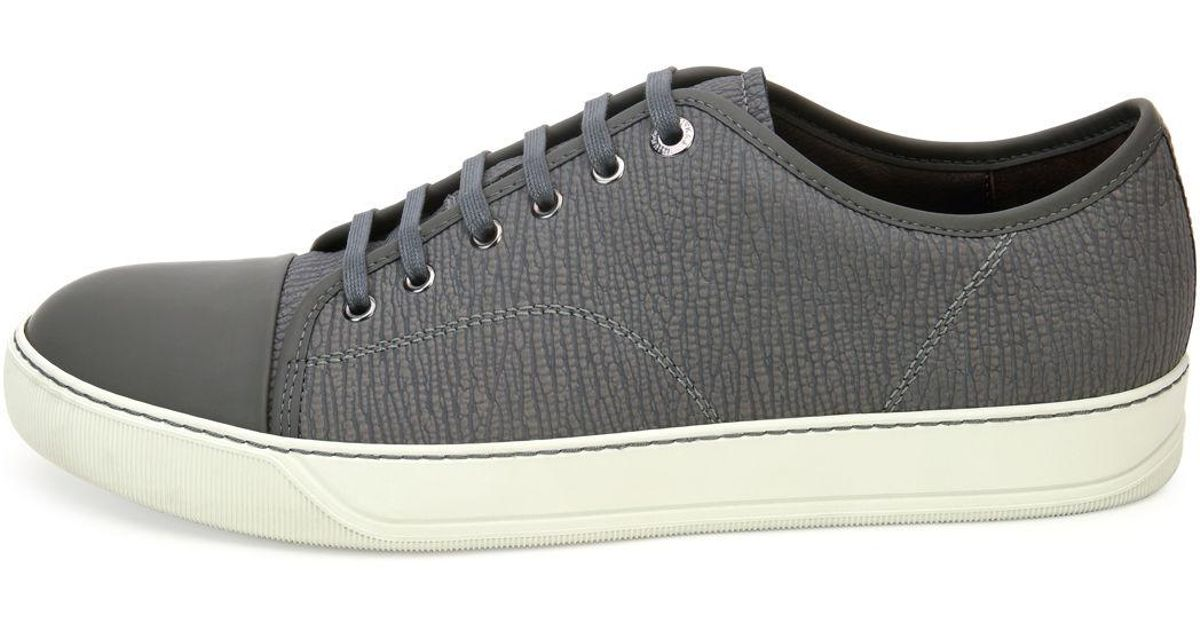 aaa89d994 lanvin-LIGHT-GREY-Textured-Leather-Low-top-Sneaker.jpeg