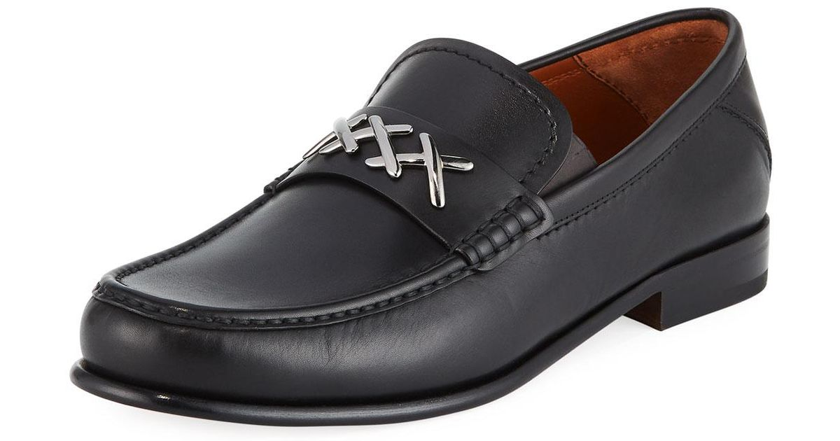8926f5e8c79 Lyst - Ermenegildo Zegna Men s Xxx Leather Penny Loafer in Black for Men