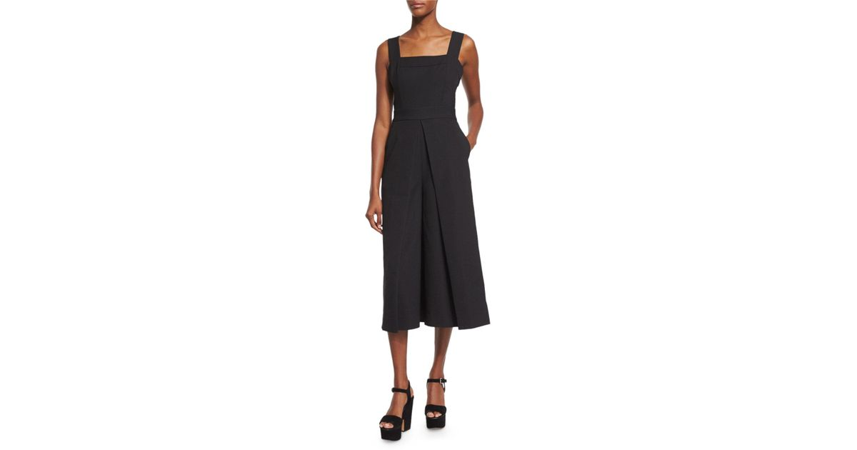 f76ab63058c Lyst - Kendall + Kylie Sleeveless Wide-leg Culotte Jumpsuit in Black