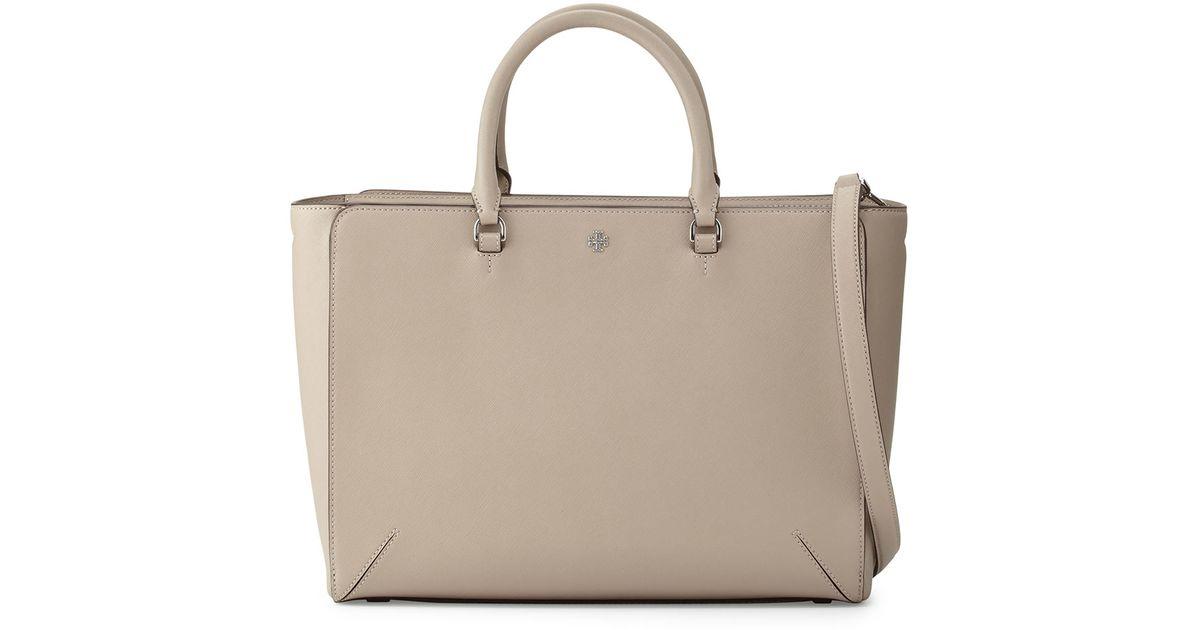 cf3fca45f5c5 Lyst - Tory Burch Robinson Large Zip-top Tote Bag in Gray