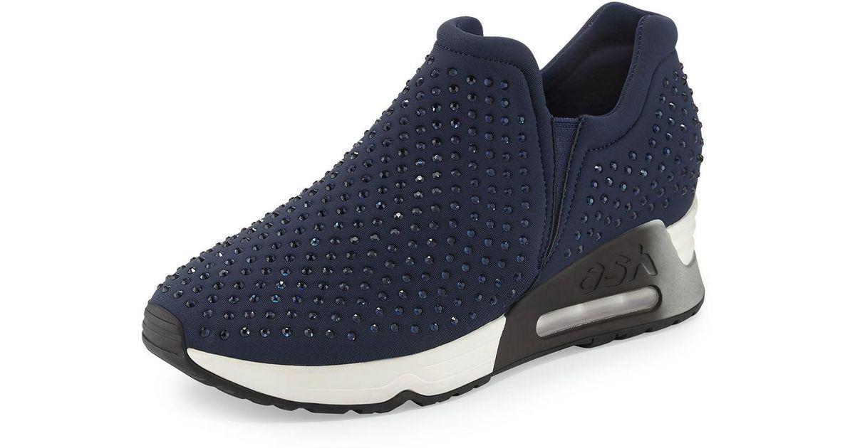 4d9e73ab89ea2 Lyst - Ash Lifting Crystal Slip-on Sneaker in Blue for Men