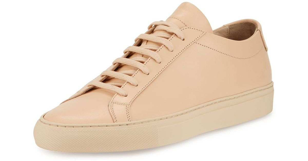 Lyst - Common Projects Achilles Leather Low-top Sneaker in Natural