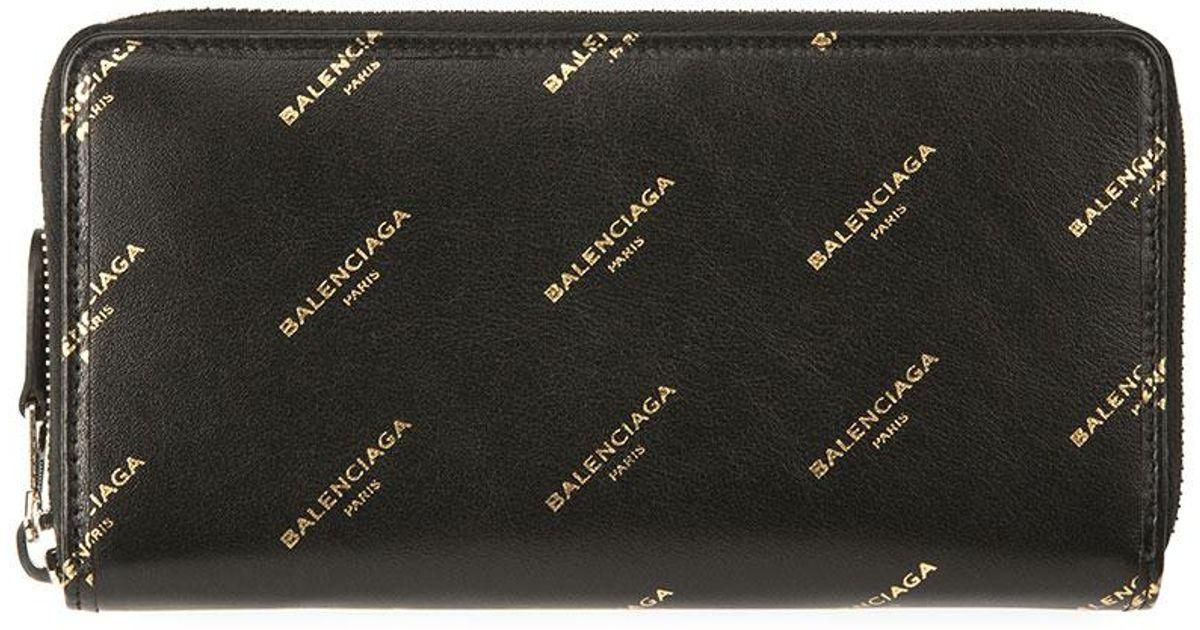 fc71834cecb Balenciaga Bazar Continental Zip-around Wallet in Black - Lyst